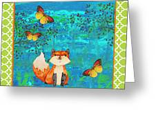 Fox-e Greeting Card by Jean Plout