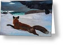 Fox Hunt 1893 Greeting Card