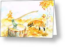 Fox In Autumn Greeting Card