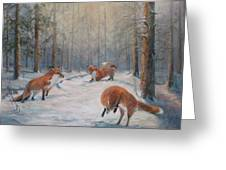 Forest Games Greeting Card