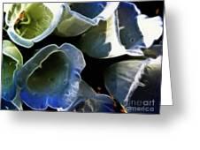 Foxglove Expressive Brushstrokes Greeting Card