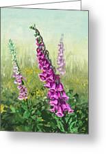 Foxglove Flower Greeting Card