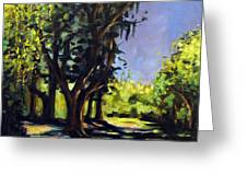 Foxgrapes And A Sandy Road Greeting Card