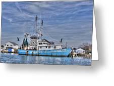 Shrimp Boat At Port Greeting Card