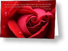 Fr I Peter 4 8 Greeting Card