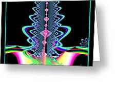 Fractal 21 Jeweled Plume Greeting Card