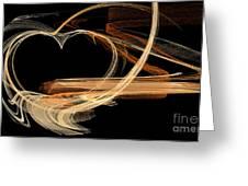 Fractal 24 Es Heart Greeting Card