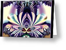 Fractal 26 Jeweled Tone Lotus Flower Greeting Card
