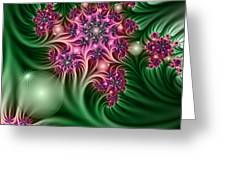 Fractal Abstract Dreamy Garden Greeting Card