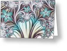 Fractal Abstract Fantasy Flower Garden 2 Greeting Card