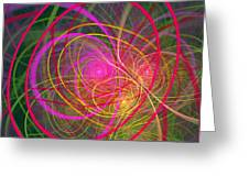 Fractal - Abstract - Loopy Doopy Greeting Card by Mike Savad