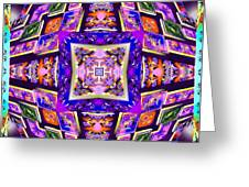 Fractal Ascension Greeting Card by Derek Gedney