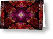 Fractal - Aztec - The All Seeing Eye Greeting Card