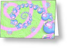Fractal Baby Toys Greeting Card
