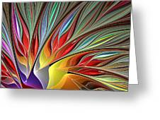Fractal Bird Of Paradise Redux Greeting Card