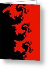 Fractal Black Dragons Greeting Card