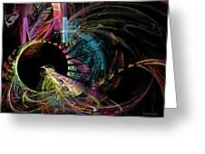 Fractal - Black Hole Greeting Card