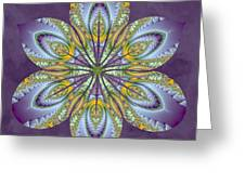 Fractal Blossom Greeting Card