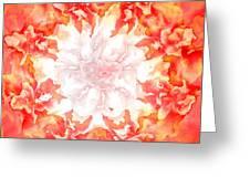 Fractal Carnation Greeting Card