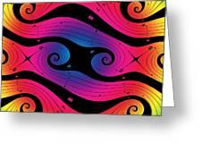 Fractal Color Spiral I Greeting Card