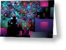 Fractal Confetti Greeting Card