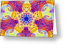 Fractal Corridors Greeting Card