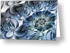 Fractal Dancing The Blues Greeting Card