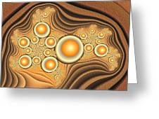 Fractal Eggs In The Depth Greeting Card