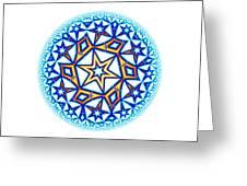 Fractal Escheresque Winter Mandala 1 Greeting Card