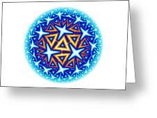 Fractal Escheresque Winter Mandala 10 Greeting Card