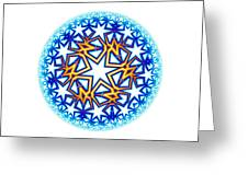 Fractal Escheresque Winter Mandala 2 Greeting Card