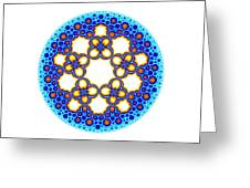 Fractal Escher Winter Mandala 3 Greeting Card