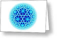 Fractal Escheresque Winter Mandala 4 Greeting Card