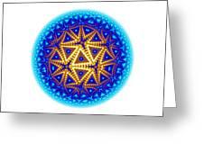 Fractal Escheresque Winter Mandala 6 Greeting Card