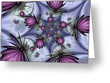 Fractal Fantasy Butterflies Greeting Card