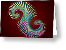 Fractal Feather Spiral Greeting Card