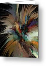 Fractal Feathers Greeting Card