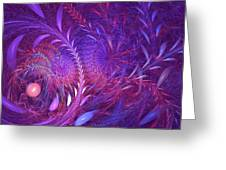 Fractal Flower Fields Greeting Card