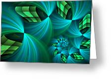 Fractal Gently Worn Greeting Card