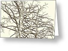 Fractal Ghost Tree - Inverted Greeting Card
