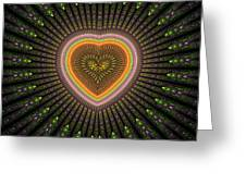 Fractal Heart 1 Greeting Card