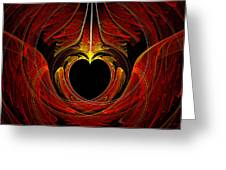 Fractal - Heart - Victorian Love Greeting Card