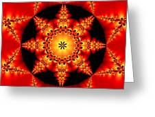 Fractal In The Centre Greeting Card
