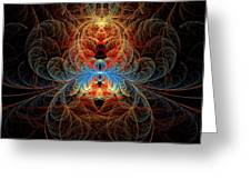 Fractal - Insect - Black Widow Greeting Card