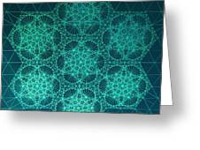 Fractal Interference Greeting Card by Jason Padgett