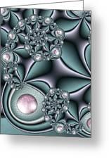 Fractal Jewellery Greeting Card