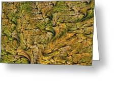 Fractal Leaf Mat-- 2 Greeting Card