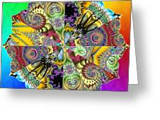 Fractal Lotus Zodiac Greeting Card