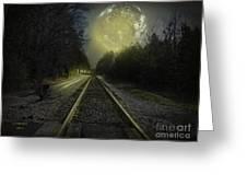 Fractal Moon Greeting Card