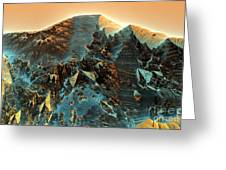 Fractal Moutain Greeting Card by Bernard MICHEL